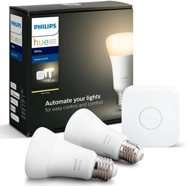 Philips Hue Startkit White 2xE27 + Hue Bridge