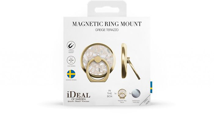 iDeal of Sweden Magnetic Ring Mount - Terazzo (iPhone)
