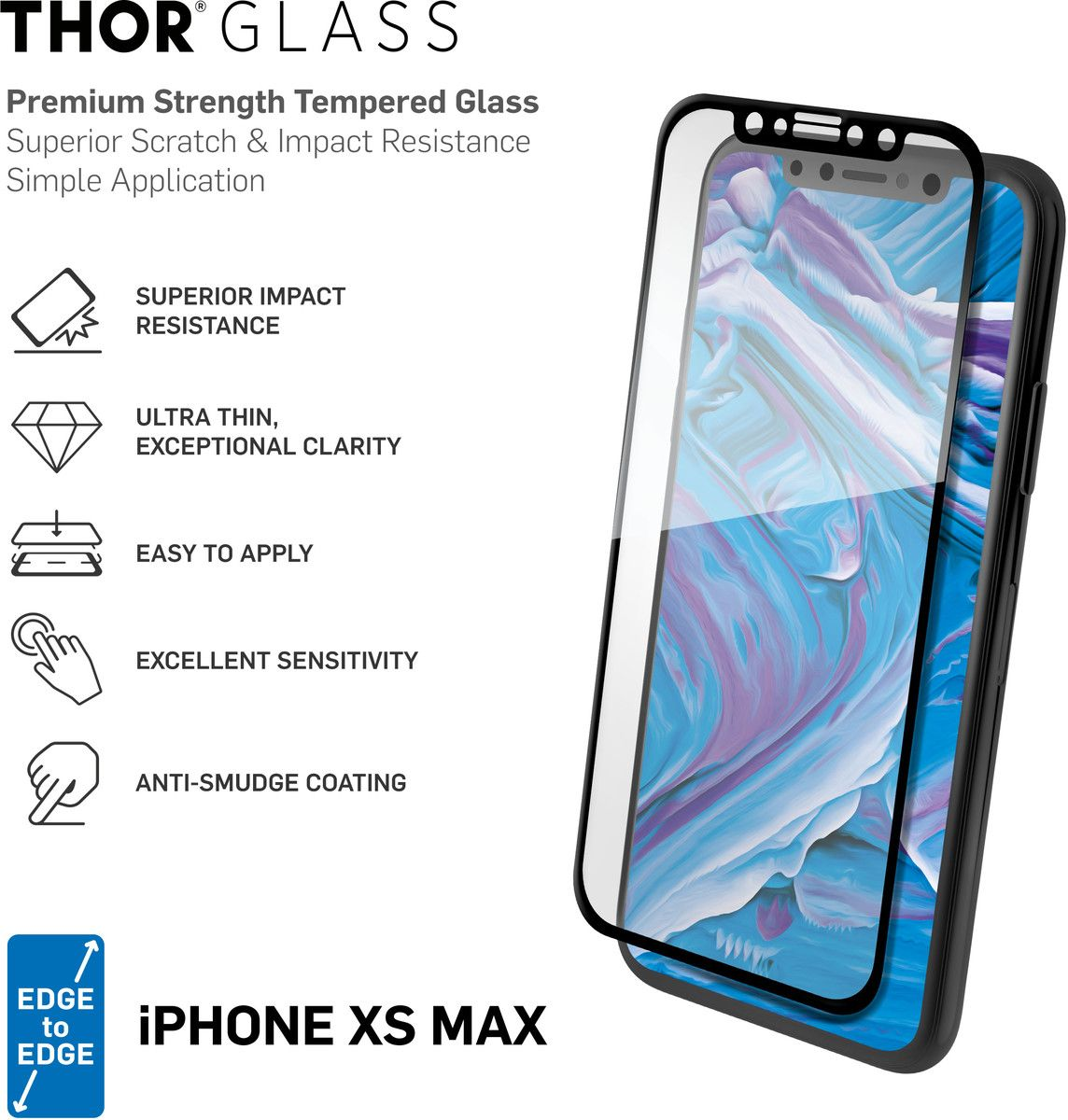 THOR Full Screen Glass with Applicator (iPhone Xs Max)